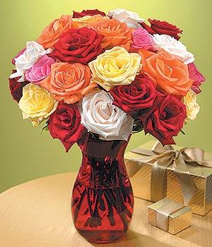 Mersin hediye çiçek yolla  13 adet renkli gül