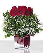 Mersin çiçek mağazası , çiçekçi adresleri  11 adet gül mika yada cam - anneler günü seçimi -