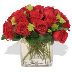 Mersin çiçek online çiçek siparişi  10 adet kirmizi gül ve cam yada mika vazo