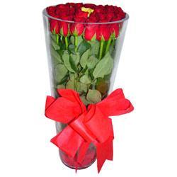 Mersin çiçek siparişi sitesi  12 adet kirmizi gül cam yada mika vazo tanzim