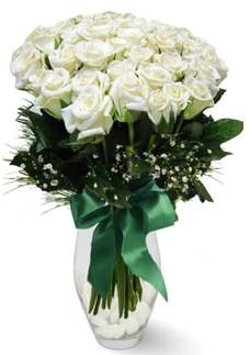 19 adet essiz kalitede beyaz gül  Mersin İnternetten çiçek siparişi