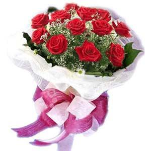 Mersin çiçek servisi , çiçekçi adresleri  11 adet kırmızı güllerden buket modeli