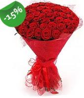 51 adet kırmızı gül buketi özel hissedenlere  Mersin online çiçekçi , çiçek siparişi