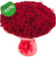 Özel mi Özel buket 101 adet kırmızı gül  Mersin hediye çiçek yolla