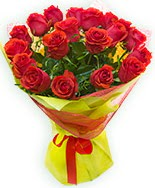 19 Adet kırmızı gül buketi  Mersin çiçek yolla