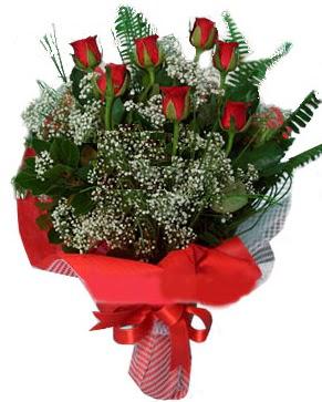 7 kırmızı gül buketi  Mersin internetten çiçek satışı