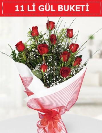11 adet kırmızı gül buketi Aşk budur  Mersin 14 şubat sevgililer günü çiçek