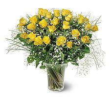 Mersin online çiçekçi , çiçek siparişi  15 adet sarigül mika yada cam vazoda