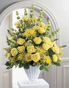 Mersin online çiçekçi , çiçek siparişi  sari güllerden sebboy tanzim çiçek siparisi