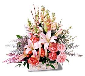 Mersin online çiçekçi , çiçek siparişi  mevsim çiçekleri sepeti özel tanzim