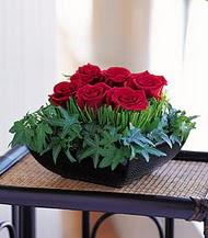 Mersin online çiçekçi , çiçek siparişi  10 adet kare mika yada cam vazoda gül tanzim
