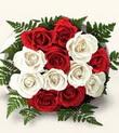 Mersin çiçek mağazası , çiçekçi adresleri  10 adet kirmizi beyaz güller - anneler günü için ideal seçimdir -