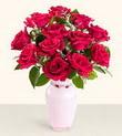 Mersin güvenli kaliteli hızlı çiçek  10 kirmizi gül cam yada mika vazo tanzim