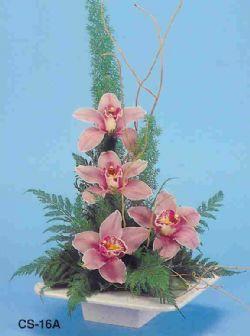 Mersin çiçek online çiçek siparişi  vazoda 4 adet orkide