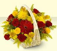 Mersin ucuz çiçek gönder  sepette mevsim çiçekleri