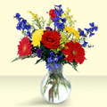 Mersin çiçek satışı  cam yada mika vazo içinde karisik mevsim