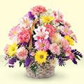 Mersin çiçek , çiçekçi , çiçekçilik  sepet içerisinde gül ve mevsim