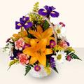 Mersin ucuz çiçek gönder  sepet içinde karisik çiçekler