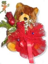 oyuncak ayi ve gül tanzim  Mersin İnternetten çiçek siparişi