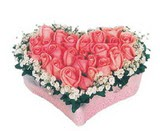 kalp içerisinde 9 adet pembe gül  Mersin çiçek servisi , çiçekçi adresleri
