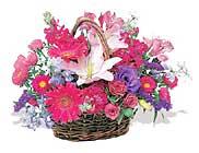 küçük karisik özel sepet   Mersin çiçek siparişi sitesi