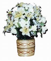 yapay karisik çiçek sepeti   Mersin çiçekçiler