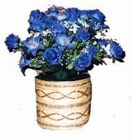 yapay mavi çiçek sepeti  Mersin çiçek satışı