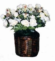 yapay karisik çiçek sepeti   Mersin çiçekçi telefonları