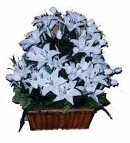 yapay karisik çiçek sepeti   Mersin çiçek gönderme