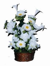 yapay karisik çiçek sepeti  Mersin çiçek yolla