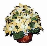 yapay karisik çiçek sepeti   Mersin online çiçekçi , çiçek siparişi