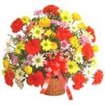 karisik renkli çiçek sepet   Mersin 14 şubat sevgililer günü çiçek