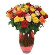51 adet gül ve kaliteli vazo   Mersin 14 şubat sevgililer günü çiçek