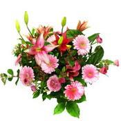 lilyum ve gerbera çiçekleri - çiçek seçimi -  Mersin hediye sevgilime hediye çiçek