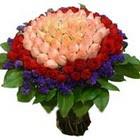 71 adet renkli gül buketi   Mersin kaliteli taze ve ucuz çiçekler
