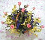 Mersin anneler günü çiçek yolla  pembe güllerden sepetde