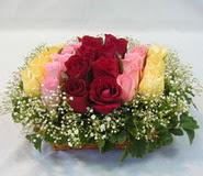 15 adet reprenkli gül sepeti   Mersin anneler günü çiçek yolla