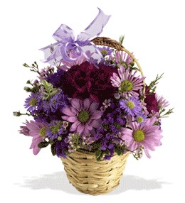 Mersin çiçek , çiçekçi , çiçekçilik  sepet içerisinde krizantem çiçekleri