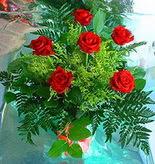 6 adet kirmizi gül buketi   Mersin çiçek gönderme