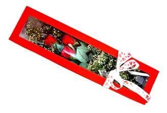 Mersin güvenli kaliteli hızlı çiçek  Kutuda 3 adet gül