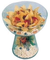 Mersin online çiçekçi , çiçek siparişi  Cam içerisinde 4 adet kandil orkide
