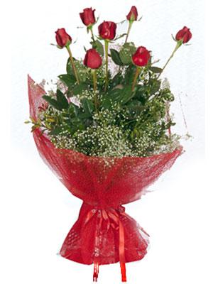 Mersin internetten çiçek satışı  7 adet gülden buket görsel sik sadelik