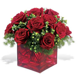 Mersin anneler günü çiçek yolla  9 adet kirmizi gül cam yada mika vazoda