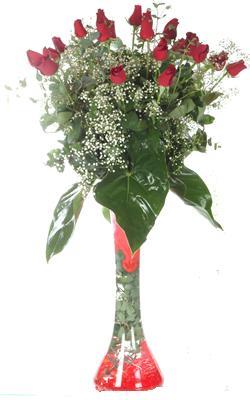 Mersin çiçek , çiçekçi , çiçekçilik  19 ADET GÜL VE FIL CAM AYAGI