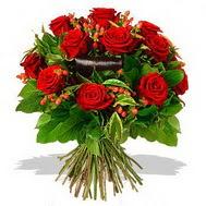 9 adet kirmizi gül ve kir çiçekleri  Mersin çiçek yolla , çiçek gönder , çiçekçi