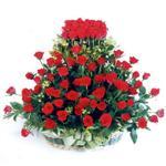 Mersin internetten çiçek siparişi  41 adet kirmizi gülden sepet tanzimi