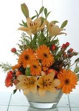 Mersin internetten çiçek satışı  cam yada mika vazo içinde karisik mevsim çiçekleri