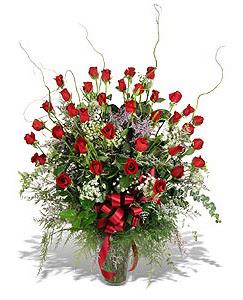 Mersin online çiçekçi , çiçek siparişi  33 adet kirmizi gül vazo içerisinde