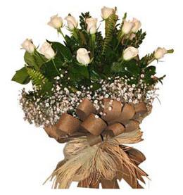 Mersin çiçek online çiçek siparişi  9 adet beyaz gül buketi