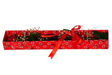 Mersin çiçek online çiçek siparişi  kutu içerisinde 1 adet kirmizi gül